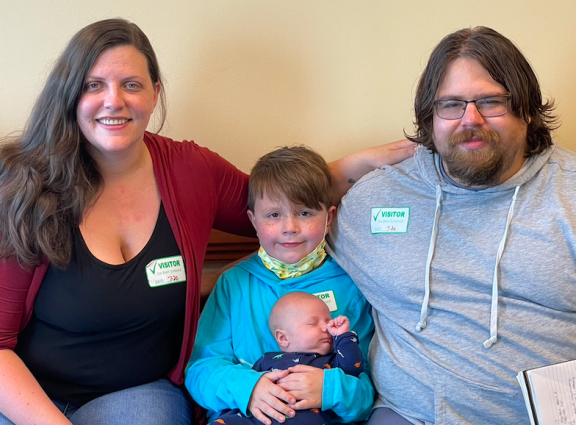 Amanda Gray with her husband, Coty, and sons, Tony and Theodore.