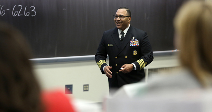 Capt. James Dickens, DNP, APRN, FNP-BC, of the United States Public Health Service and branch chief for the Centers for Medicare and Medicaid Services, delivered the keynote address.