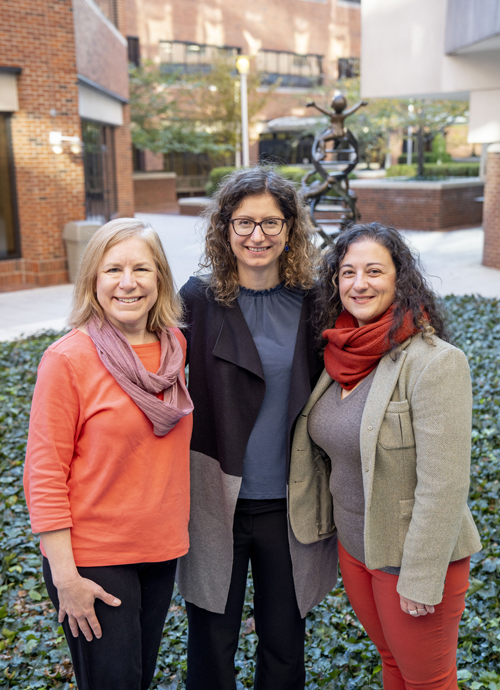 Vanderbilt researchers Beth Malow, MD, MS, left, Maria Niarchou, PhD, and Lea Davis, PhD, hope to create a genetic risk profile of insomnia in autism spectrum disorder to better inform treatments.