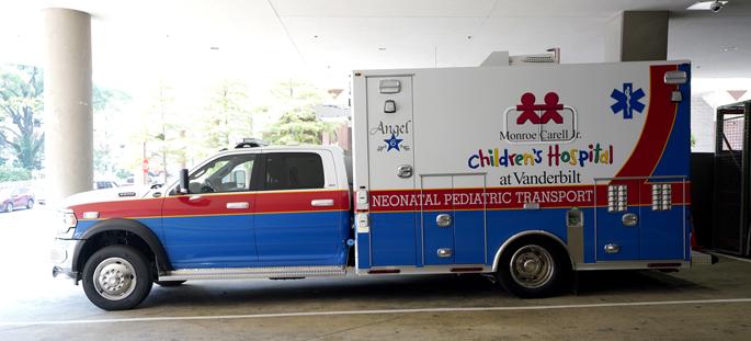 Monroe Carell Jr. Children's Hospital at Vanderbilt's newest pediatric and neonatal transport ambulance is based in Murfreesboro.