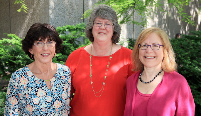 From left, Deborah Wofford, Janet Shouse and Beth Malow, MD, MS, are among a team of Vanderbilt Kennedy Center researchers seeking to improve access to care for adults with autism.