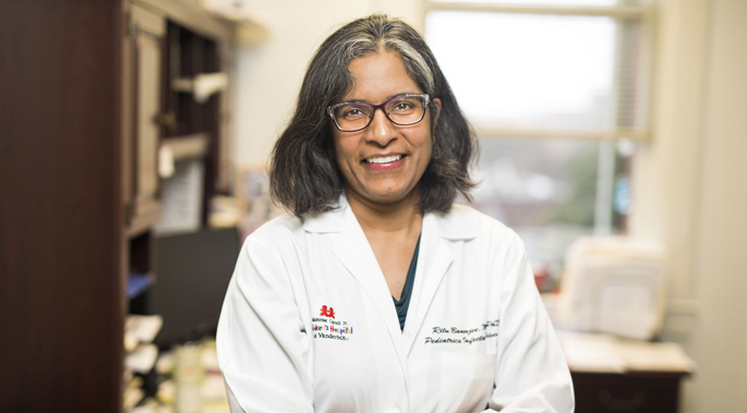 Ritu Banerjee, MD, PhD, and her colleagues are studying a new way to determine whether antibiotics will be effective against certain bacterial infections.