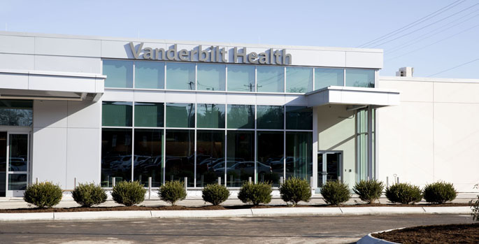 Vanderbilt Health Belle Meade is located at 6002 Highway 100 in Nashville, near the Highway 70 and Highway 100 split.