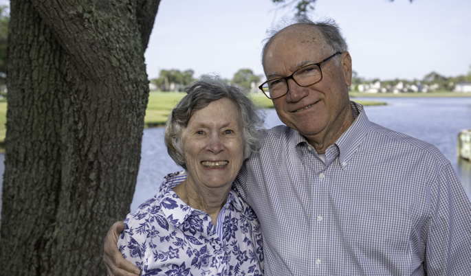 William Blot, PhD, and his wife, Frances, deeded the proceeds of the sale of their home to VUMC after William Blot retired in April.