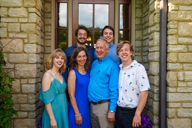 Jeff Byers, MD, with, (front row, from left) daughter Jessica, wife Janet, (back row, from left) sons Stephen and Andrew.