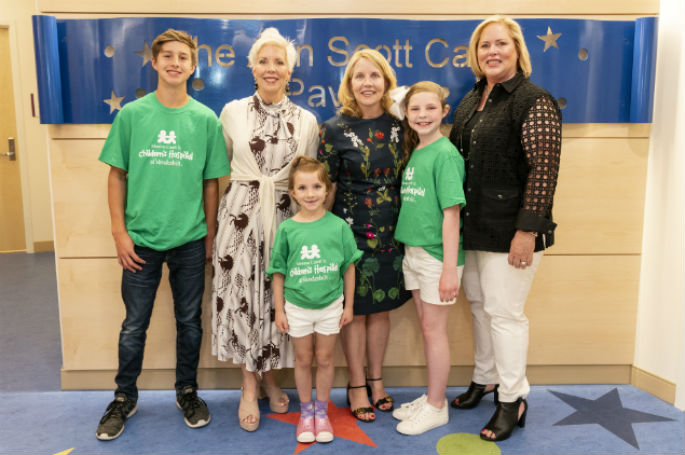 Patient ambassadors recently helped give the Carell family a sneak peek at the first new floor of the Monroe Carell Jr. Children's Hospital at Vanderbilt expansion, scheduled to open at the end of June.