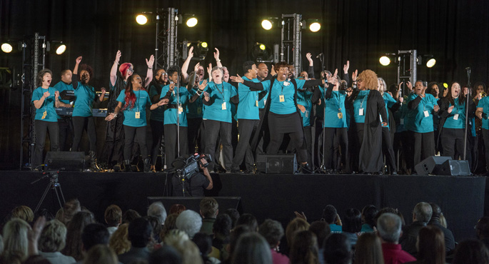 The United Voices of Vanderbilt Choir got the audience into the spirit at last week's Celebrate the Difference WE Make Every Day!