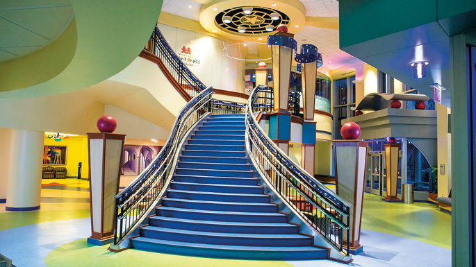 The grand staircase in the lobby of Monroe Carell Jr. Children's Hospital was closed for 14 months while construction crews installed two additional elevators. The staircase, which connects the main lobby to the second floor of the hospital, reopened Feb. 25.