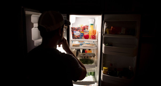Social distancing and spending more time at home can make it tempting to stop by the refrigerator more often. Making healthy choices can help.