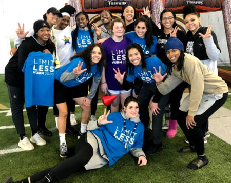 Vanderbilt University Women's Basketball team members showed their support of Monroe Carell Jr. Children's Hospital at Vanderbilt and spent time with patient ambassador Gabee Barnes during the Vanderbilt University Dance Marathon in February.
