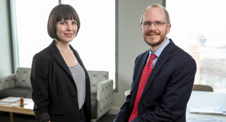 Lisa Bastarache, MS, Josh Denny, MD, MS, and colleagues are helping researchers study associations among de-identified genotype data and electronic health records data. (photo by John Russell)