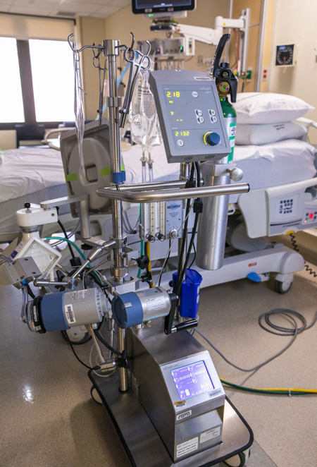 VUMC's ECMO program has expanded to areas outside of the Cardiovascular Intensive Care Unit.