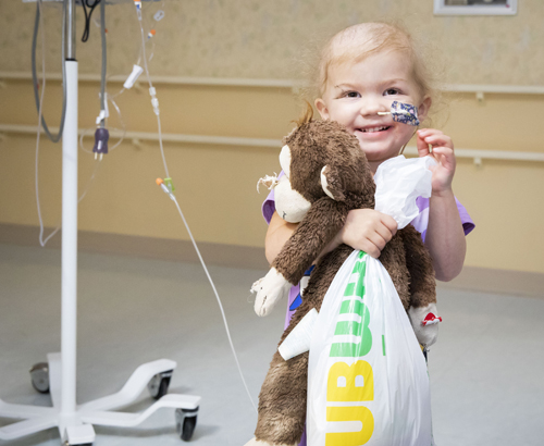 Abigail Leggio, 2, is one of the many patients being helped by Friends of Monroe Carell Jr. Children's Hospital at Vanderbilt.