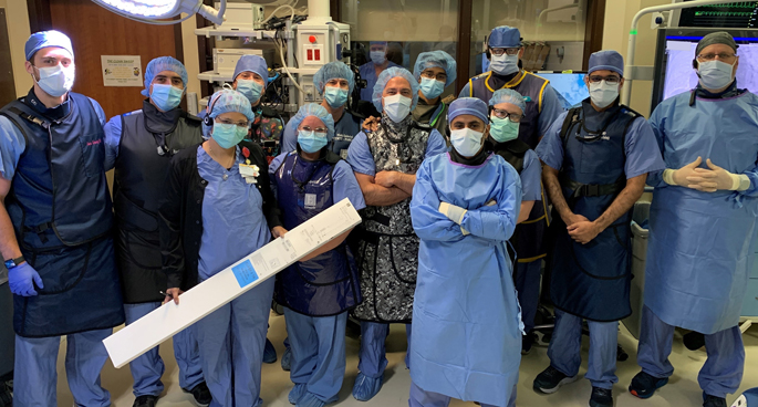 The Structural Heart and Valve Center team has recently completed multiple groundbreaking transcatheter clinical trial procedures treating severe regurgitation of the mitral and tricuspid valves.