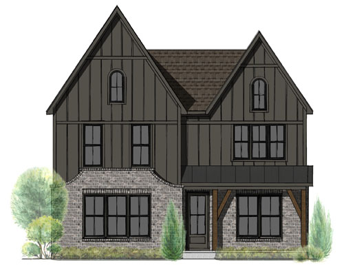 This artist rendering shows the home that will be raffled off to benefit Monroe Carell Jr. Children's Hospital at Vanderbilt.