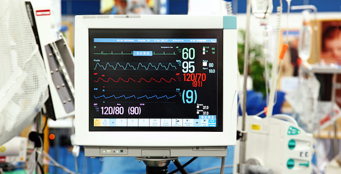 intensive care vital sign monitor