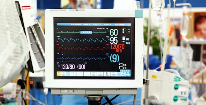 intensive care vital sign monitor