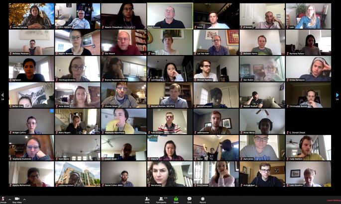 Attendees take part in last week's online Medical Scientist Training Program seminar.