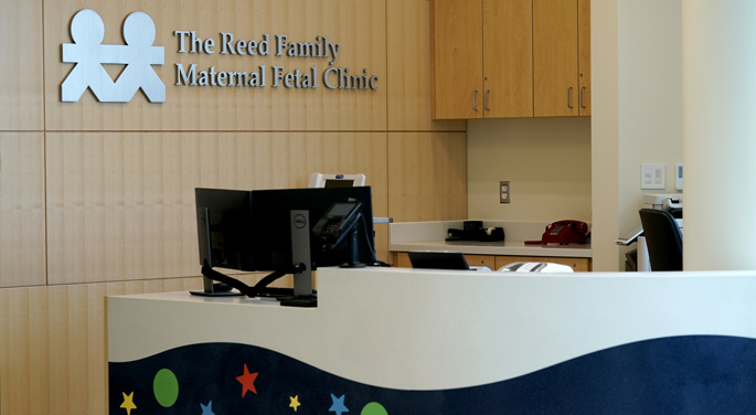 The newly opened Reed Family Maternal Fetal Clinic is located on the ninth floor of Monroe Carell Jr. Children's Hospital at Vanderbilt.