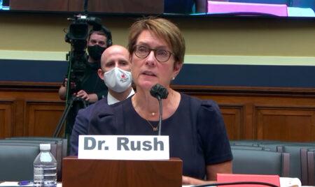 Meg Rush, MD, MMHC, testifying before Congress on Sept. 22.