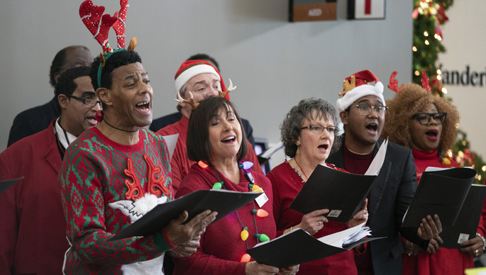 The Voices of Vanderbilt Choir performed holiday songs at Vanderbilt Health One Hundred Oaks last week. The choir also performed several shows on the main campus to celebrate the season.
