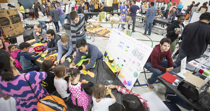 "Children had a field day on Oct. 19 exploring with Vanderbilt scientists the ""great big world of tiny microbes"" — bacteria, viruses and other germs. The third annual MEGAMicrobe event, hosted by the Vanderbilt Institute for Infection, Immunology and Inflammation (VI4), was held at Granbery Elementary School in Brentwood. MEGAMicrobe's goal is to make science fun and accessible. For more information, go here."