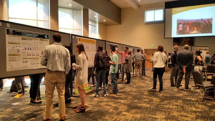 Graduate students and postdoctoral fellows recently presented their research at the annual symposium of the Vanderbilt Institute for Infection, Immunology and Inflammation (VI4) in the Vanderbilt Student Life Center.