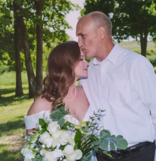The spine surgery he received allowed Jeff Vanderford to realize his goal of walking his daughter, Sarah, down the aisle at her wedding.