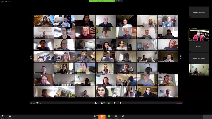 Nearly 600 people took part in the teleconference.