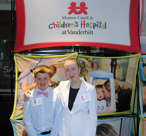 Children's Hospital patient ambassador Jack Fancey and honorary co-chair Jennifer Najjar, MD, were recognized at the 78th Iroquois Steeplechase Spring Kickoff event on April 11.