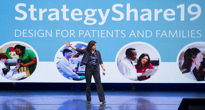 Shari Barkin, MD, served as emcee for Tuesday's StrategyShare19 event.