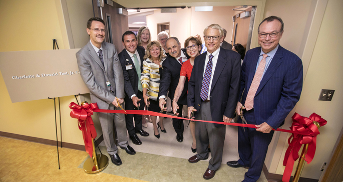 Attendees cut the ribbon at last week's event marking the opening of the Charlotte and Donald Test Jr. Center at Vanderbilt Psychiatric Hospital.