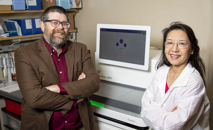 Thomas Stricker, MD, PhD, and Ping Mayo are part of the operational team for the Clinical Genomics Laboratory, which is offering whole exome sequencing at VUMC.