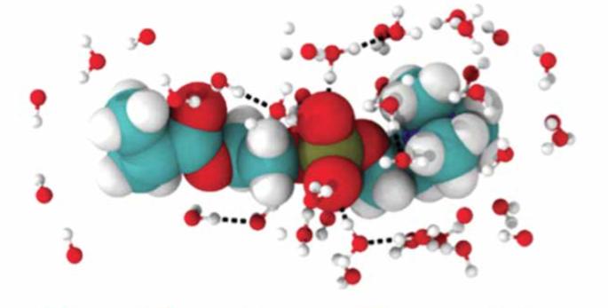 molecules stuck together