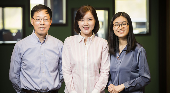 From left, Wei Zheng, MD, PhD, Jae Jeong Yang, PhD, Danxia Yu, PhD, and colleagues are studying smoking patterns and associated deaths in Asian countries.