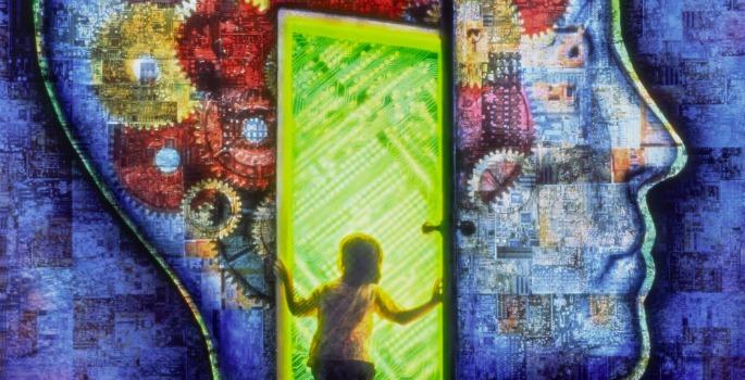 Brain and doorway concept
