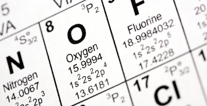 Oxygen on periodic table